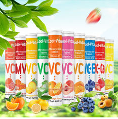 Healthy Fruits Flavor Vitamin C Dissolvable Tablets 250mg 500mg 1000mg